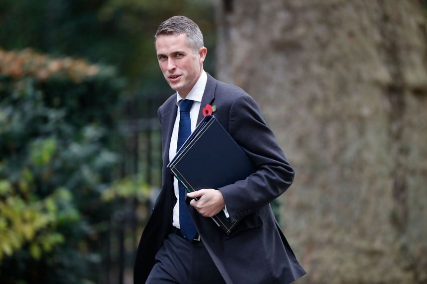 New defence minister Gavin Williamson arriving at 10 Downing Street for the weekly meeting of the cabinet in central London on Oct 31, 2017.