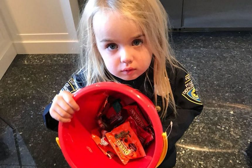 Donald Trump Jr tweeted this photo of his daughter Chloe with her Halloween bucket.