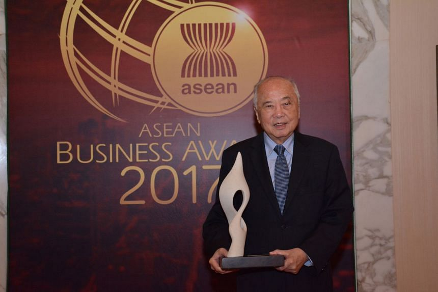 United Overseas Bank veteran Wee Cho Yaw at the Aseran Business Awards 2017 in Manila, the Philippines, on Sept 6, 2017.