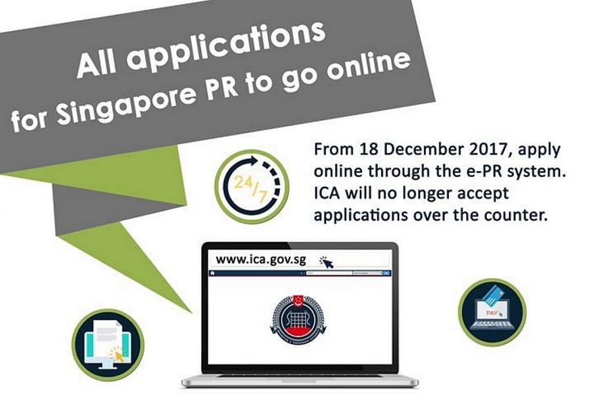 All applications for Singapore PR will go online from Dec 18.