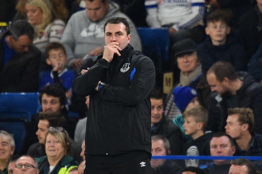 Everton's interim manager David Unsworth during the English League Cup fourth round football match between Chelsea and Everton at Stamford Bridge in London on Oct 25, 2017.