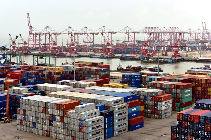 Shipping containers are seen at Nansha terminal of Guangzhou port, China on June 14, 2017. China said on Thursday (Nov 2) that it has not intentionally sought a trade surplus with the United States.