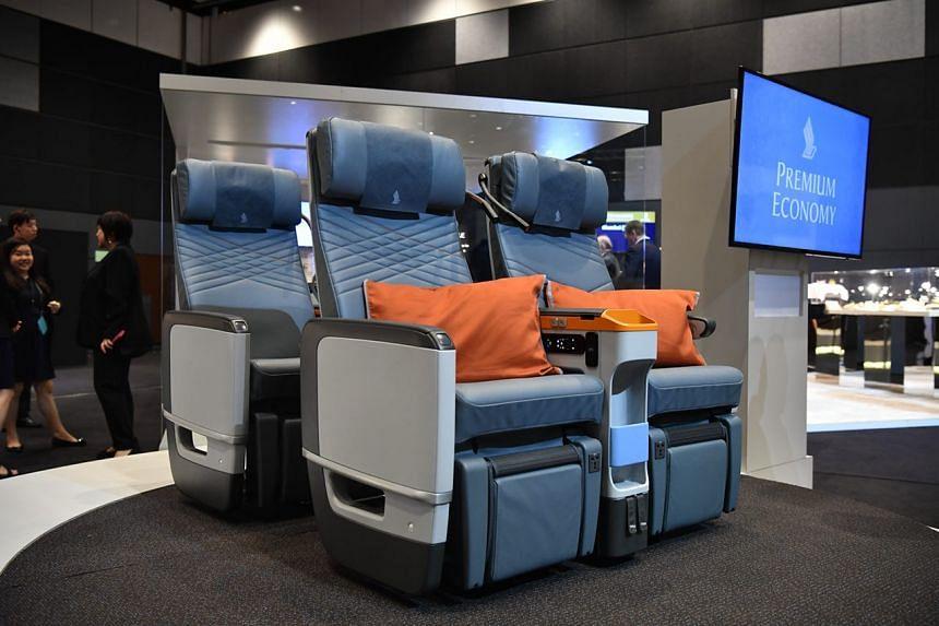 Premium Economy class seats for SIA's Airbus 380.
