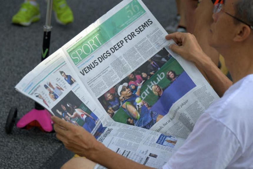The Straits Times has a combined print and digital readership reach of 28.8 per cent on an average daily basis, according to a survey.