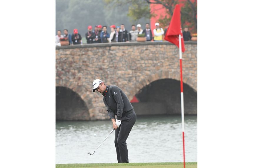Justin Rose in action at the WGC-HSBC Champions in Shanghai, where he stormed back from eight shots behind third-round leader Dustin Johnson to win last Sunday's event by two strokes. The Englishman is excited that Tiger Woods will be back in action