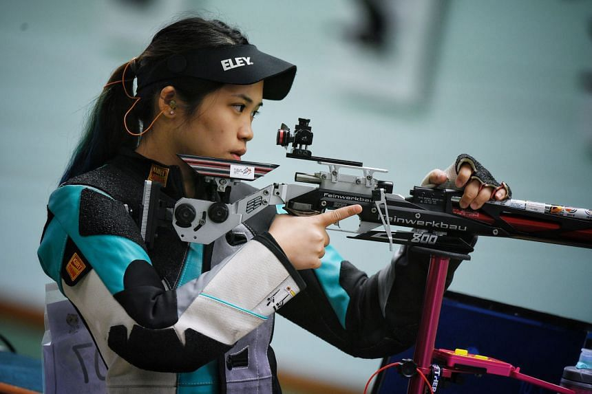 Martina Veloso at the KL SEA Games where she won the 10m air rifle gold. She kept up her good form at yesterday's CSF & OSF C'ships.