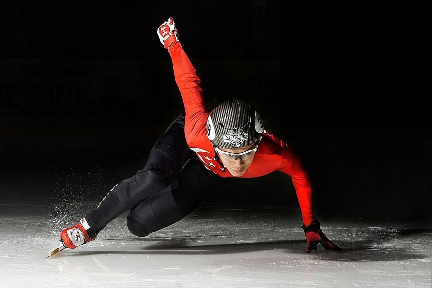 """Short track speed skater Lucas Ng, who started skating competitively in 2010 and was Singapore's first Asian Winter Games representative the following year, says the role of torchbearer is an """"incredible"""" opportunity."""