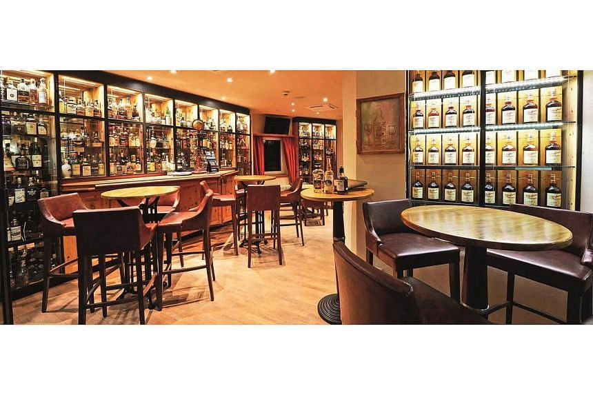 The shot of whisky had been purchased from Waldhaus Am See Hotel's Devil's Place whisky bar.