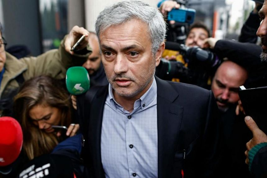 Manchester United manager Jose Mourinho left the court in Pozuelo, Madrid insisting that the only problem he had with the brief appearance was that he had been forced to reschedule training.