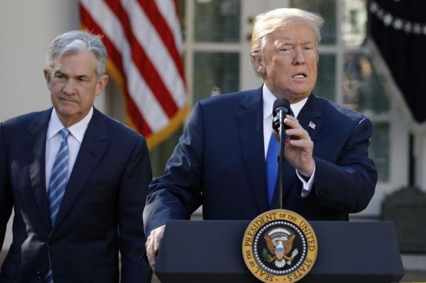 US President Donald Trump announces Jerome Powell as his nominee to become chairman of the US Federal Reserve in the Rose Garden of the White House in Washington, US on Nov 2, 2017.