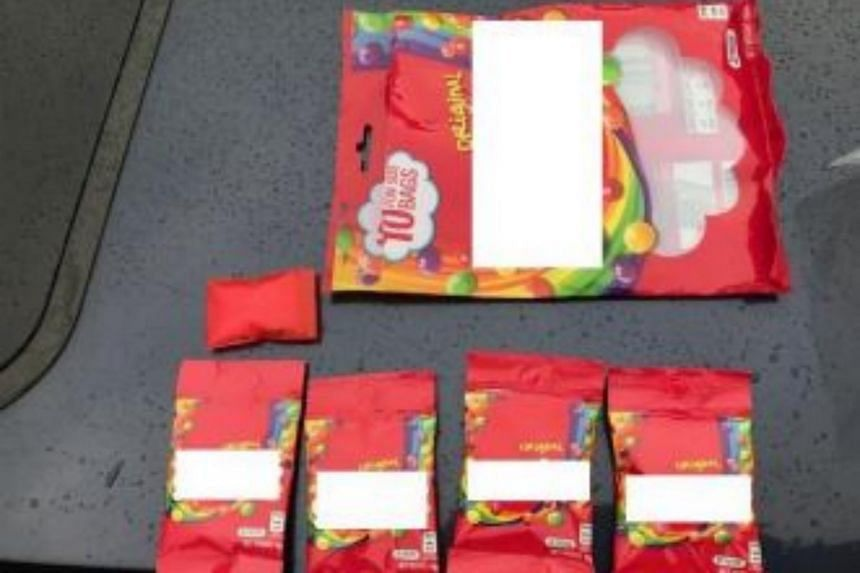 Candy packaging concealing Ice seized in CNB operation on Oct 25.