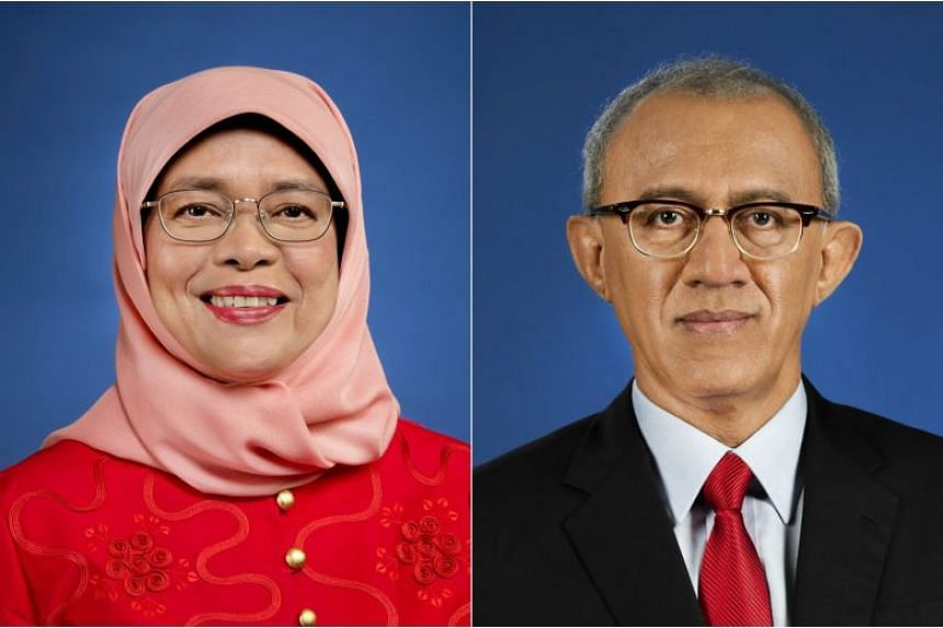 The portraits of President Halimah Yacob and her husband Mohamed Abdullah Alhabshee are available for collection from today.