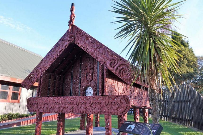 Stunning Maori architecture in Te Puia.