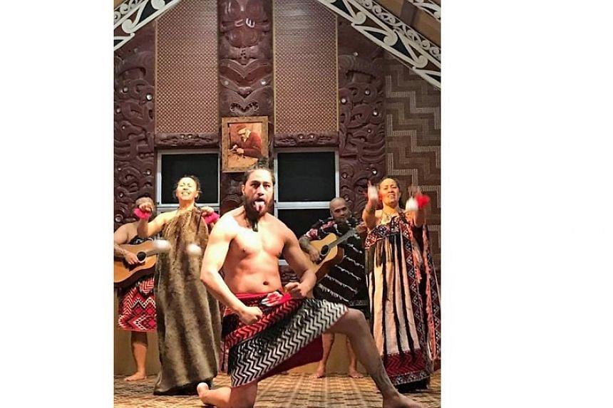 A haka performance.