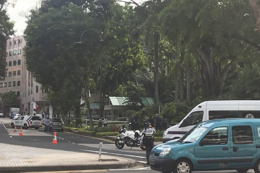Penang Lane was cordoned off when The Straits Times arrived around 4.40pm.