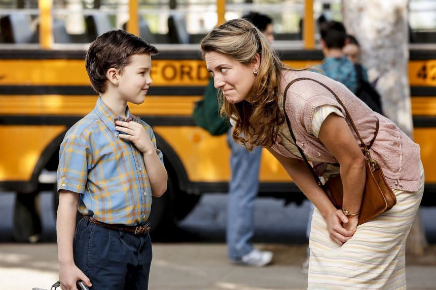 Iain Armitage (left) and Zoe Perry star in Young Sheldon, a spin-off <NO1>TV<NO>series of The Big Bang Theory.