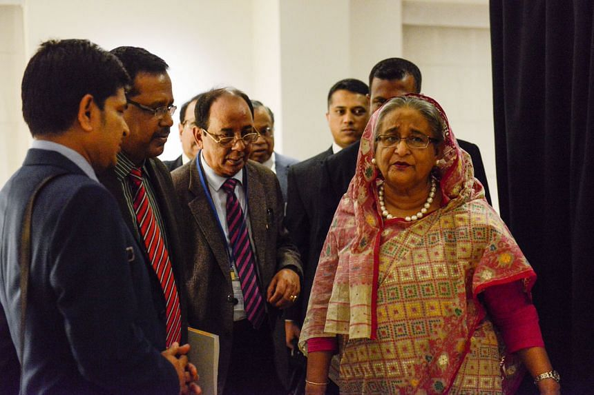 Bangladesh Prime Minister Sheikh Hasina Wajed moved up six places to No. 30 from last year's 36th spot on Forbes Power Women list. She has promised aid to Rohingya refugees fleeing Myanmar, allotting about 800ha of land in her country for them.