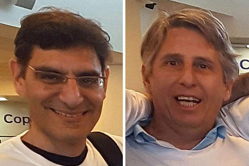 The terror attack in New York on Tuesday killed eight, including (from left) Argentine friends Hernan Ferrucci, Alejandro Pagnucco, Ariel Erlij, Hernan Mendoza and Diego Angelin, as well as Ms Anne-Laure Decadt, the sole woman victim.