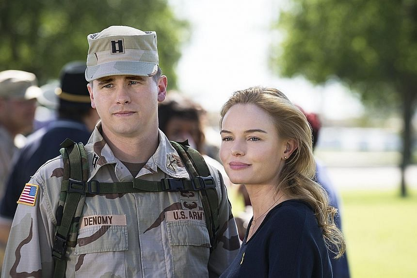 The Long Road Home, about a 2004 attack on a group of American soldiers during the occupation of Iraq, stars Jason Ritter and Kate Bosworth (both above).