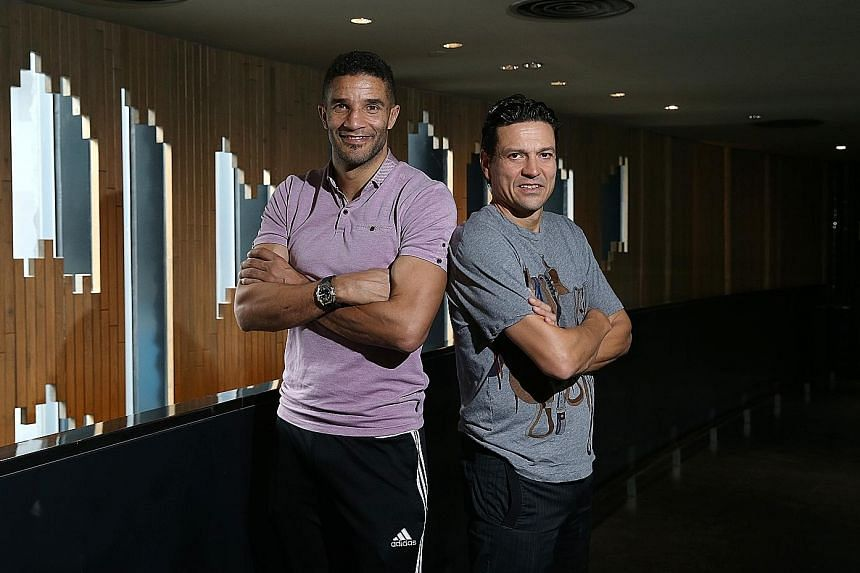 Former Liverpool stars David James (left) and Jari Litmanen will don the colours of the Liverpool Masters in the Battle of the Masters at the National Stadium next Saturday.