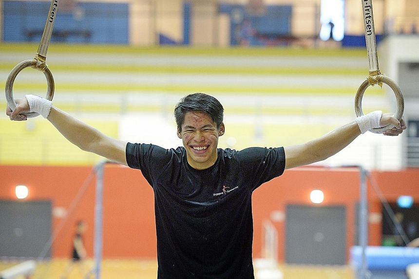 Gymnast Lincoln Forest Liqht Man, 17, won four golds, one silver and two bronzes in July's Asean Schools Games. He is determined to achieve a SEA Games podium spot and compete in the Olympics.