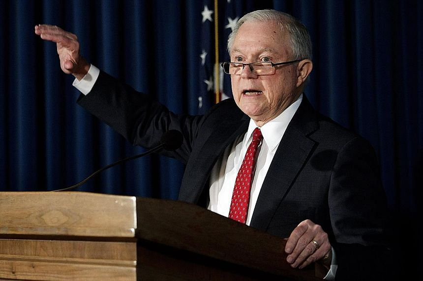 Attorney-General Jeff Sessions has said he was not aware of contacts between Mr Donald Trump's campaign and Russia, and denied having any such contacts himself.