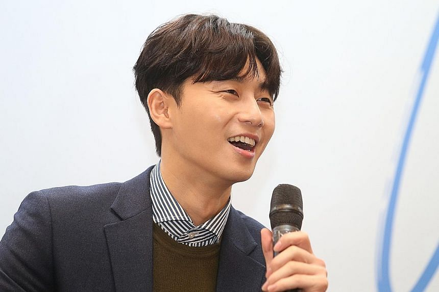 Actor Park Seo Jun is looking forward to trying local food while in Singapore.