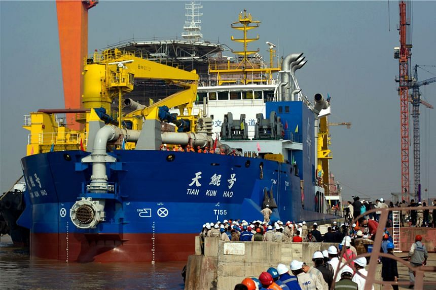 The Tian Kun Hao will be the most powerful dredging vessel in Asia, said China Daily.