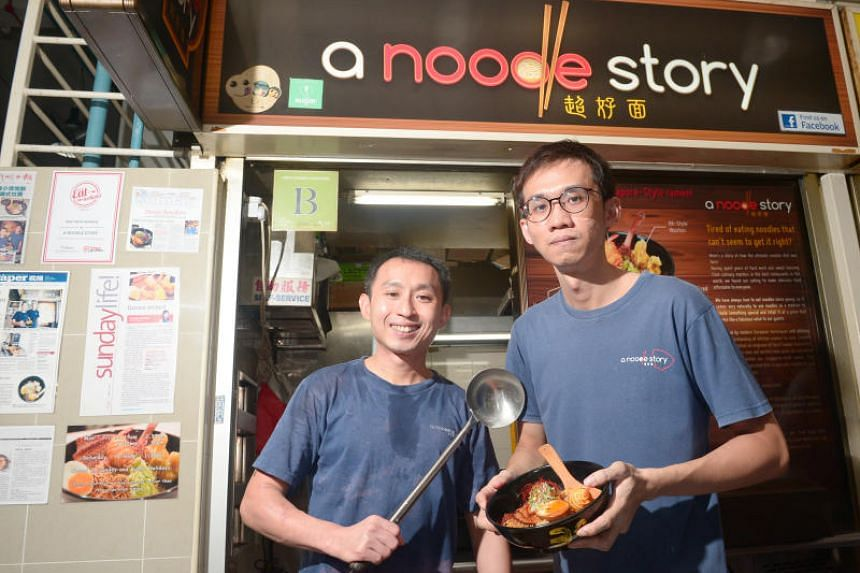 A Noodle Story co-founders Gwern Khoo (left) and Ben Tham. The stall won the Favourite Street Food Vendor award at the public-voted GastroMonth Circle of Excellence Awards.