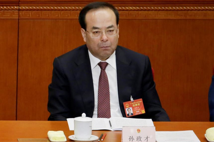 Disgraced senior politician Sun Zhengcai (pictured) was abruptly removed from his post as Chongqing party chief in July and replaced by Chen Min'er, who is close to President Xi Jinping.