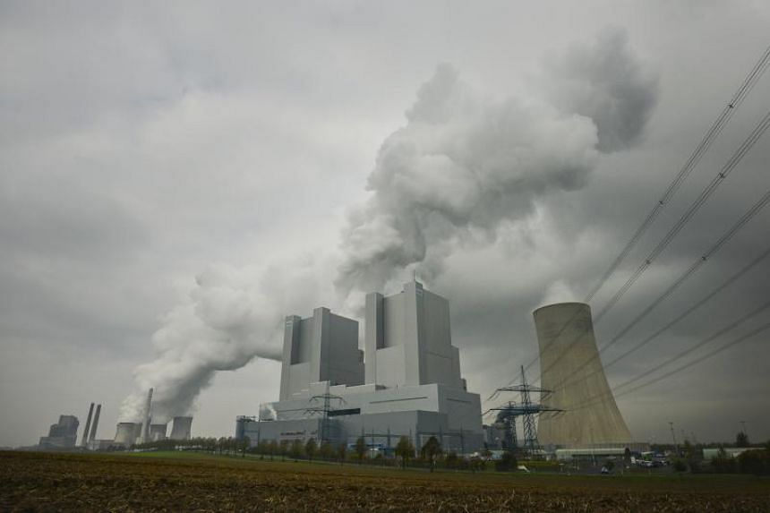The Neurath coal power plant during protests prior to the UN Climate Change Conference COP23 in Grevenbroich, Germany, on Nov 3, 2017.