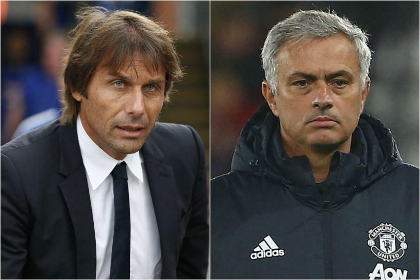 Antonio Conte (left) said that his relationship with Jose Mourinho is not key.