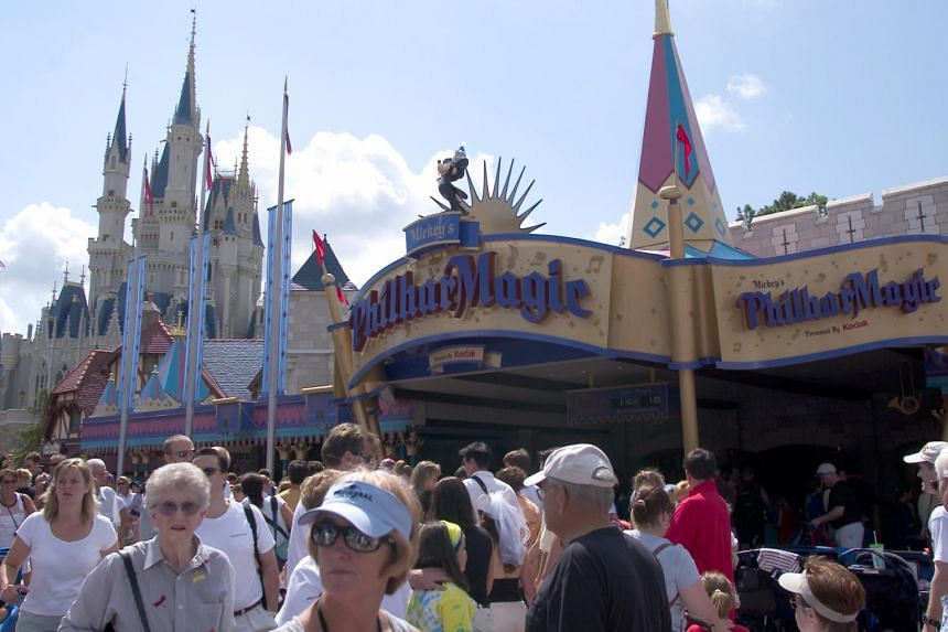Guests at the Magic Kingdom in Disney World in Orlando, Florida.