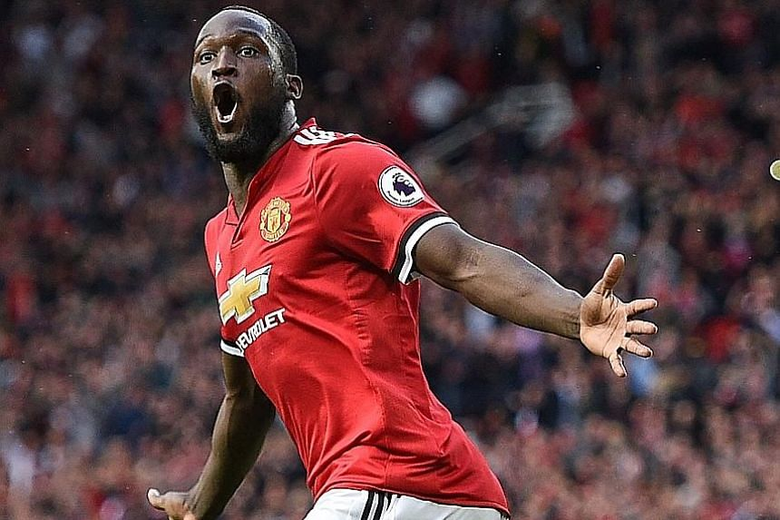 Alvaro Morata (far left) and Romelu Lukaku have both started well at their new clubs, Chelsea and Manchester United respectively, but are now struggling for goals.