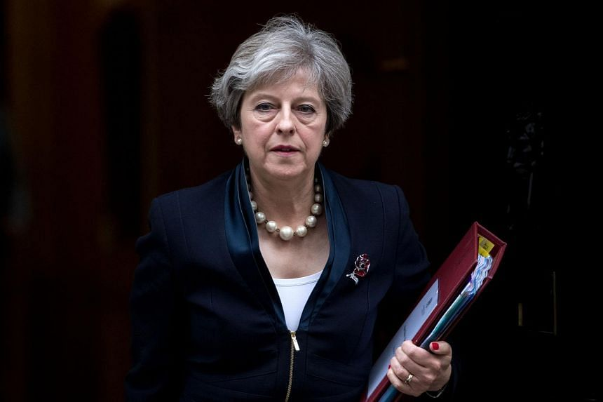 Britain's Prime Minister Theresa May leaves 10 Downing Street in central London.