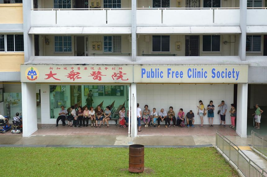 The Public Free Clinic Society's branch in Clementi Avenue 5, 30 minutes before the clinic's opening at 9am.