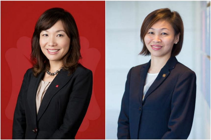 Ms P'ing Lim (left) and Ms Chung Shaw Bee highlight some things to know about the Supplementary Retirement Scheme.