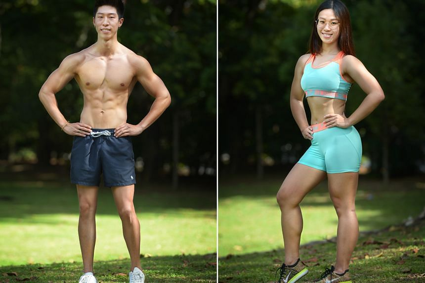 (Above left) Loh Jia Lerk, 20, Student and Grayce Teong, 22, Student