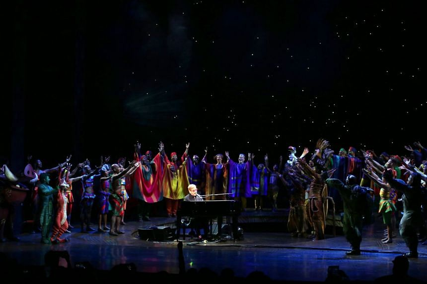 The Curtain Call for the 20th anniversary performance of The Lion King on Broadway at The Minskoff Theatre in New York City on Nov 6, 2017. PHOTO: WALTER MCBRIDE