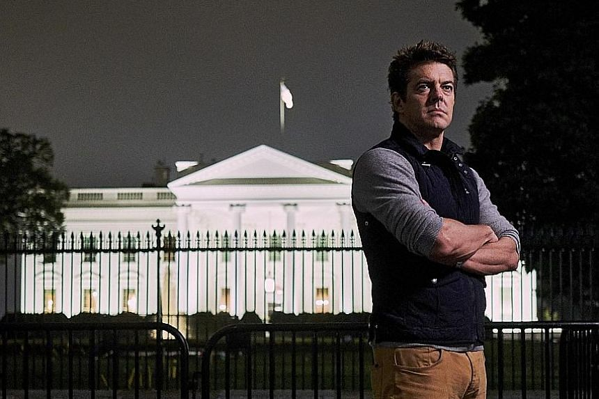 Film-maker Jason Blum (above, outside the White House) says Halloween was the biggest holiday when he was a child.