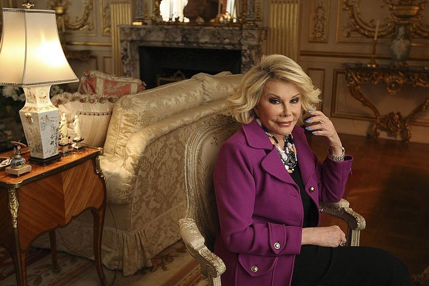 Joan Rivers Confidential (above) is a humorous look at the life of the late comedienne (left).