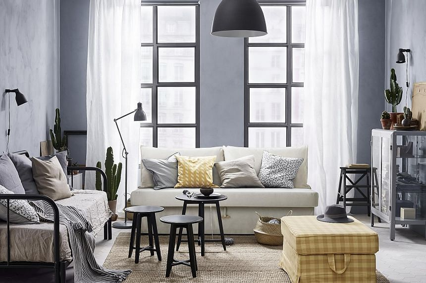 About 7,000 products from Ikea, including furniture (above) and home accessories such as tealights (left), are available online.