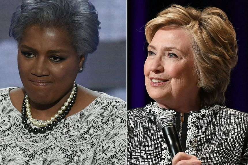 """Ms Donna Brazile (left) wrote in her book that Mrs Hillary Clinton's campaign was mismanaged, """"anaemic"""" and had """"the odour of failure""""."""