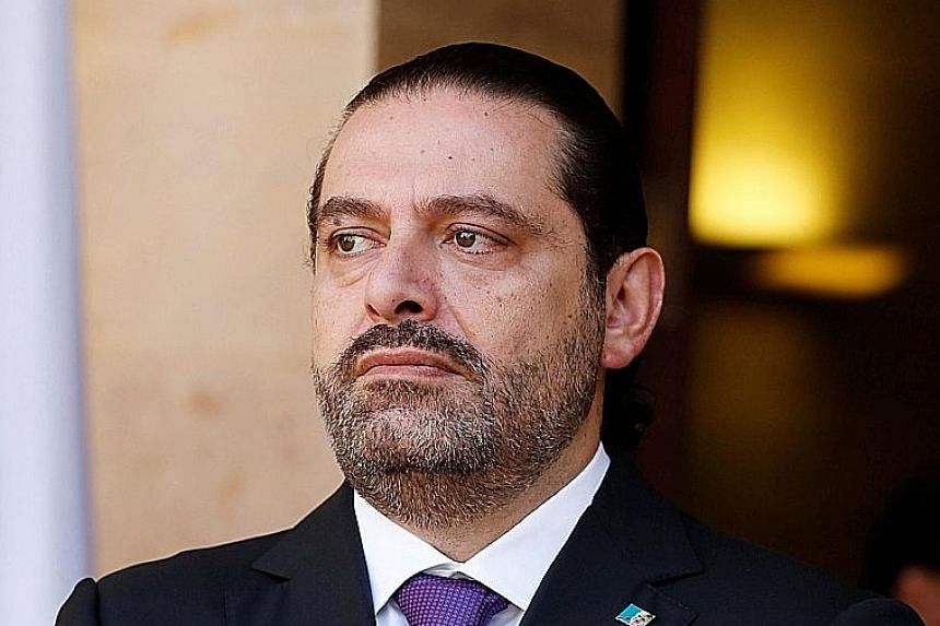Mr Hariri left Lebanon for Saudi Arabia last Friday and resigned the next day in a televised statement.