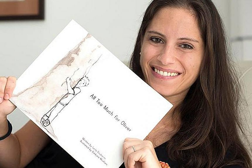 Sensitivity, in many cultures, is seen as a weakness, said Ms Leila Boukarim, a former sales development manager who now writes full-time. Her first picture book is titled All Too Much For Oliver.