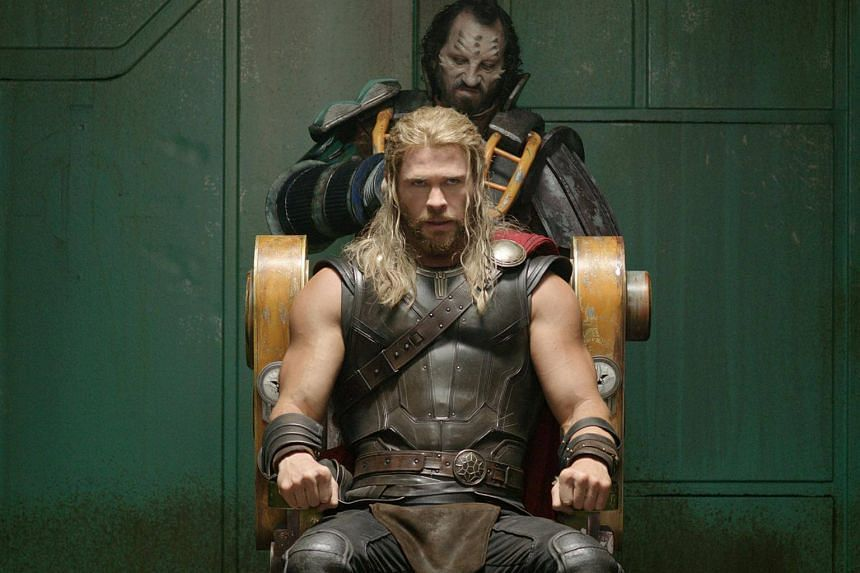 Chris Hemsworth stars as Thor in Thor: Ragnarok.