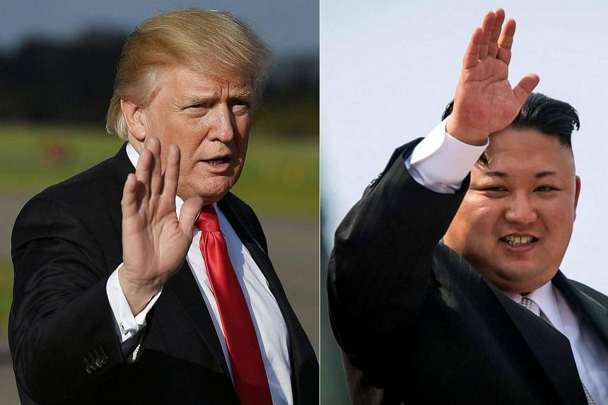 President Donald Trump (left) appeared to strike a more conciliatory tone on North Korea as he got down to business on Monday (Nov 6) on an Asian tour dominated by the nuclear crisis with Pyongyang.