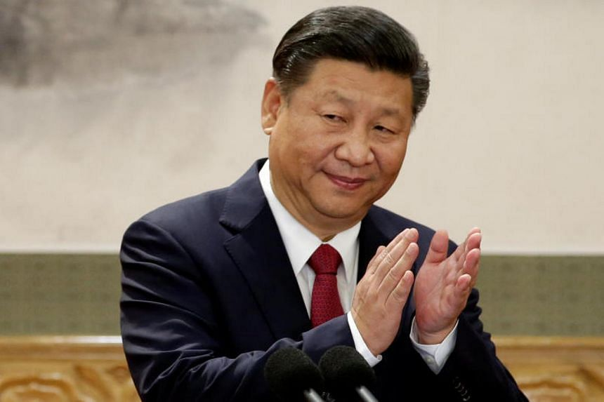 China's President Xi Jinping at the Great Hall of the People in Beijing, China, on Oct 25, 2017.