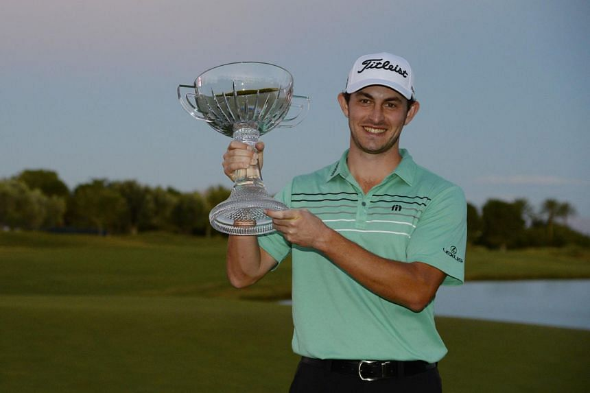 Patrick Cantlay after winning the Shriners Hospitals For Children Open at the TPC Summerlin in Las Vegas, Nevada, on Nov 5, 2017.