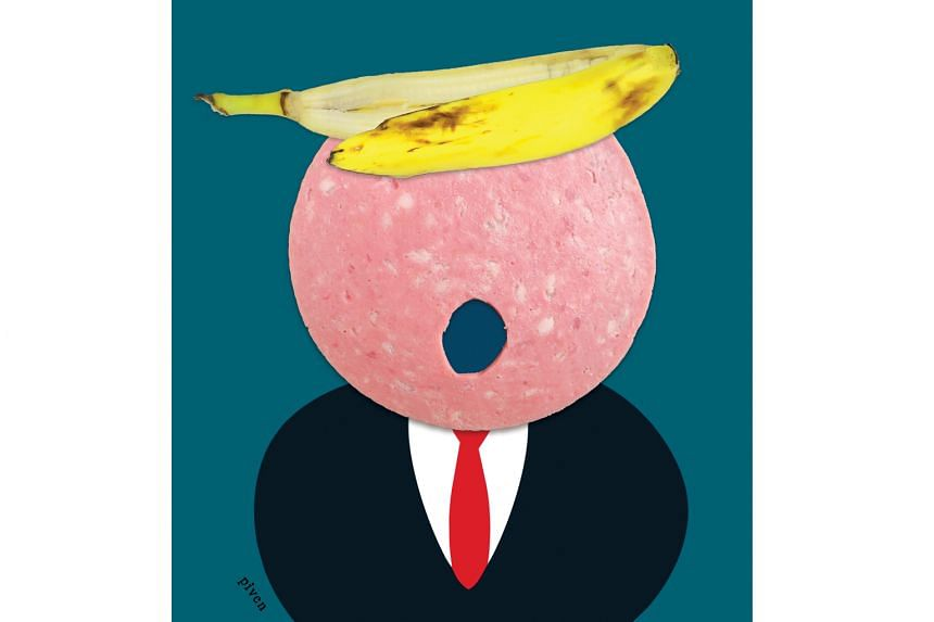 Mixed-media artist Hanoch Piven is best known for his caricatures of well-known people using everyday objects, such as those of US President Donald Trump (above) and Mr Trump's predecessor, Mr Barack Obama.
